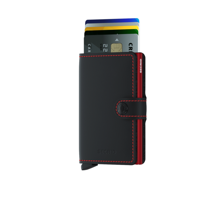 Secrid M Matte BlackRed Front Cards 2