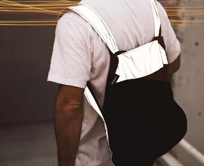 mochila bolso reflective reflectante notabag black 3