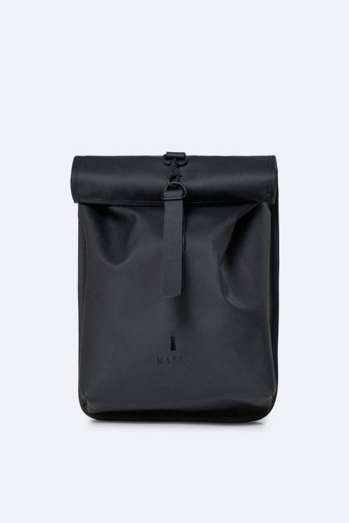 mochila rains impermeable Rolltop Mini Bags Black