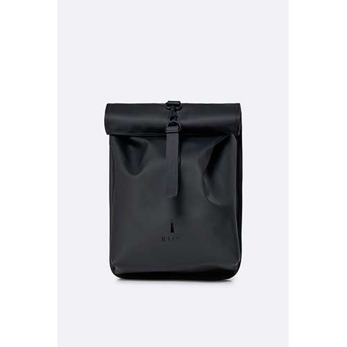 mochila rains impermeable Rolltop Mini Bags Black a