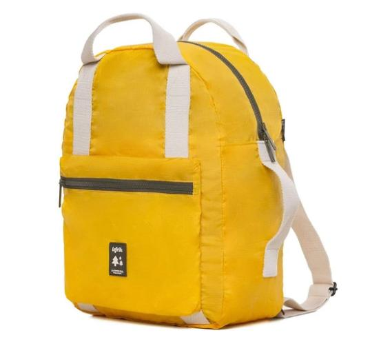 pocket backpack yellow 3