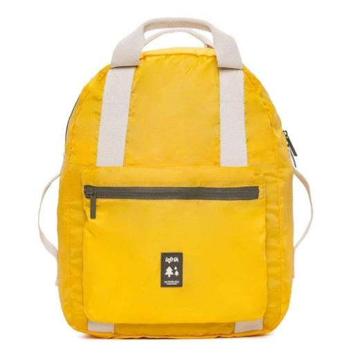 pocket backpack yellow