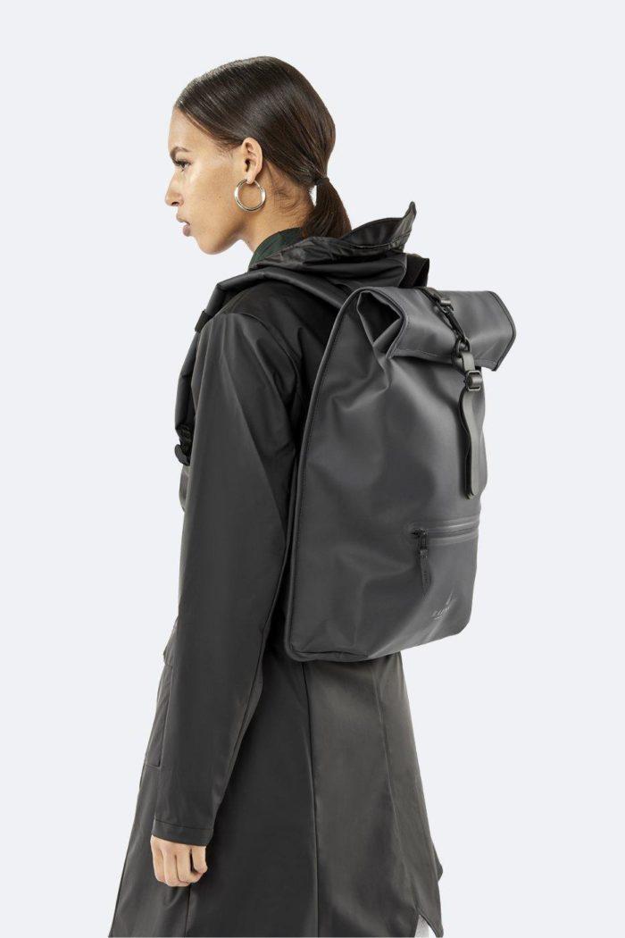 rains rolltop rucksack black 4