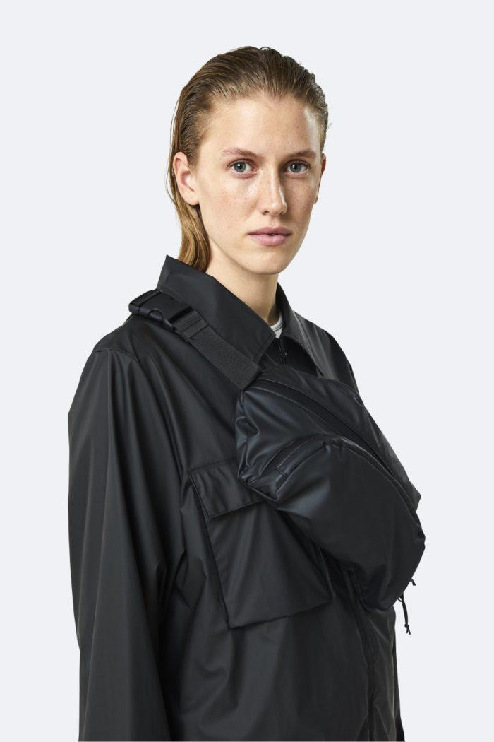 rinonera impermeable rains Ultralight Hip Bag Bags Black 4