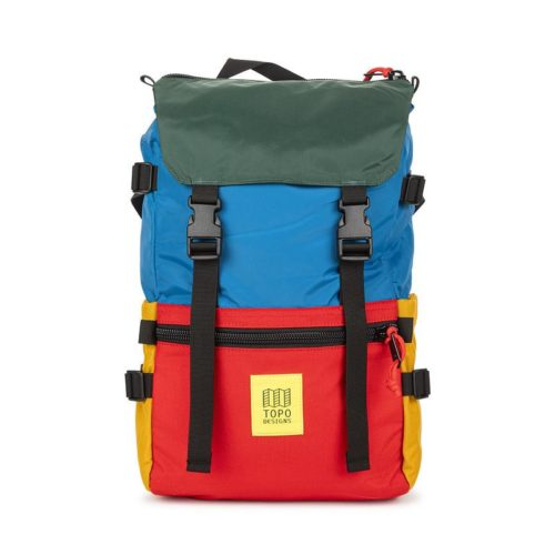 mochila topo desings rover pack blue red forest