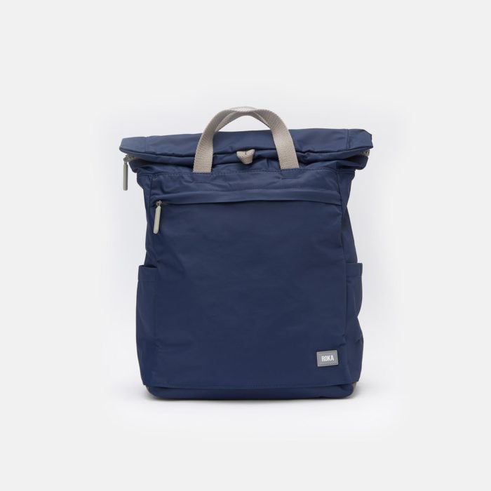 mochila impermeable roka camden medium navy front
