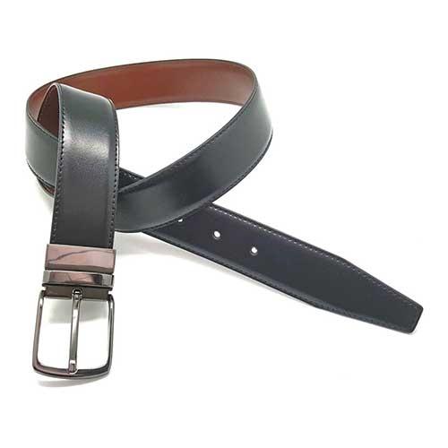 Cinturon piel Soave cosido 35mm reversible a
