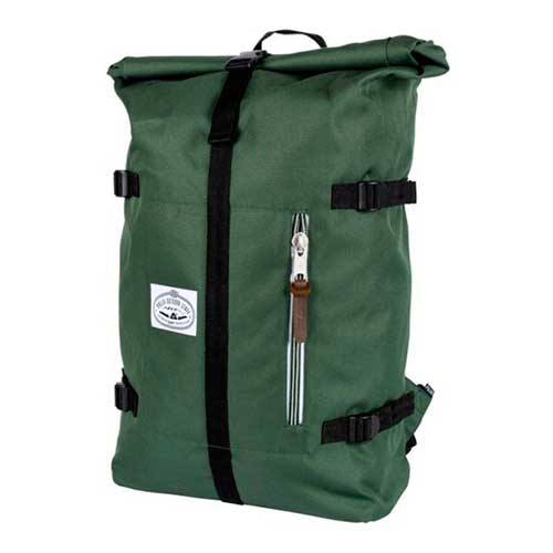 Classic Rolltop in Leaf Green and Laether a