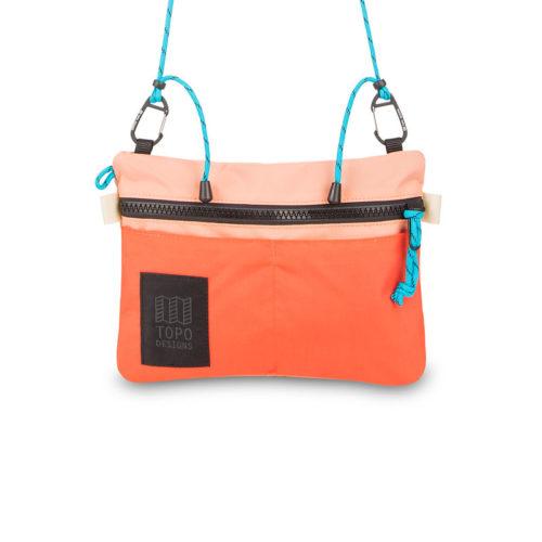 bolso topo designs carabiner shoulder Accessory bag hot coral peach